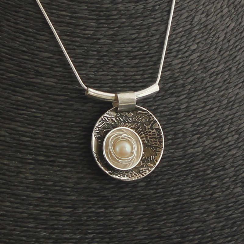 Birds nest sterling silver pendant karen harvey jewellery contact aloadofball Choice Image