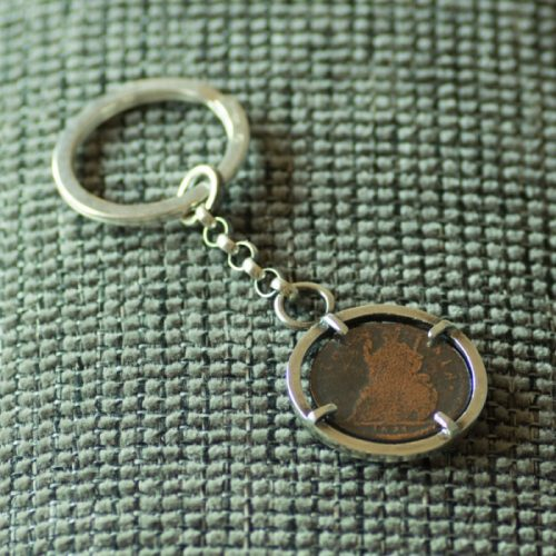 sterling silver jewellery coin key ring